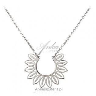 Srebrny naszyjnik  Piękna biżuteria srebrna