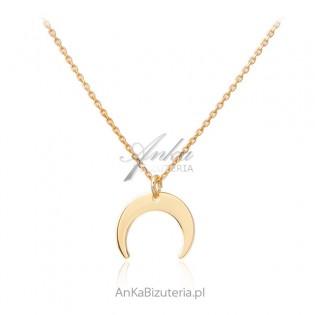 Biżuteria srebrna pozłacana  - KSIĘŻYC