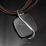 Silver jewelry - silver pendant with onyx