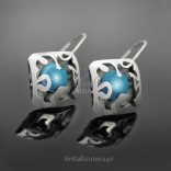Silver EARRINGS with natural turquoise