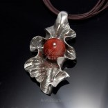 Fashionable silver pendant KORALOWA FALL.