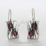 Silver earrings with grenades Super price