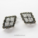 Cute earrings with marcasites and zircons.