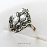 Silver Jewelry-beautiful Ring with cubic zirconia