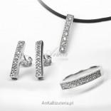 Silver jewelry set: Ring, Earrings, Pendant