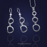 Long silver earrings for Women