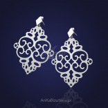 "Silver laser earrings - ""pheromone among jewelry""."
