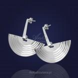"""Biżuteria artystyczna: Kolczyki srebrne """"Spacer po Księżycu""""."""
