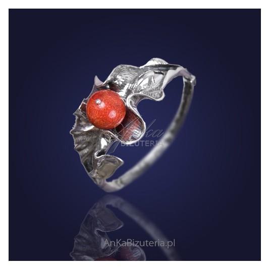 Oryginalna Biżuteria: Bransoletka KORALOWA JESIEŃ z koralem.
