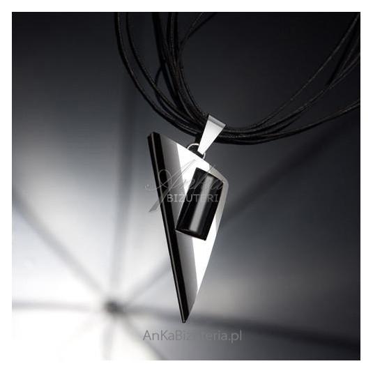 Klasyczny Wisior srebrny z onyksem