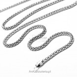 A silver chain that's great on its own and pendants with marcasites.