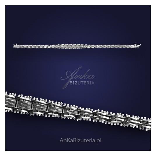 Bransoletka srebrna - miękko układająca się na dłoni.