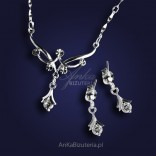Necklace and Earrings with cubic zirconia. GOOD PRICE!