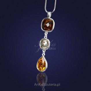 Biżuteria-Naszyjnik srebrny z kryształami SWAROVSKI