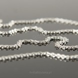 Silver necklace-like necklace, flat braided 45cm.