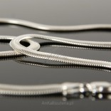 Silver chain 45cm SNAKE Cashmere weave.