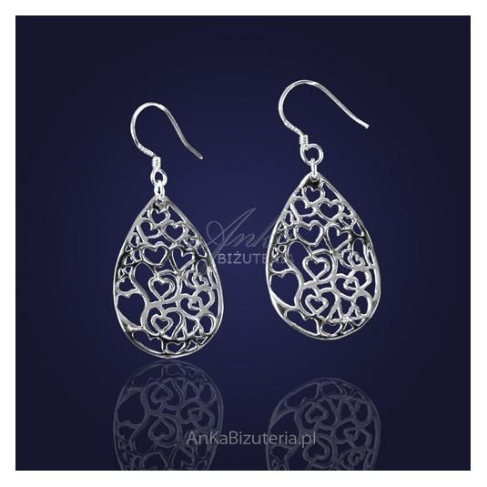 """Biżuteria - Kolczyki srebrne -  """"Miłość na fali....."""""""
