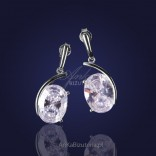 Cubic zirconia in an incredibly charming silver frame - earrings.