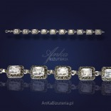 Silver bracelet with marcasites and zircons - PROMOTION.