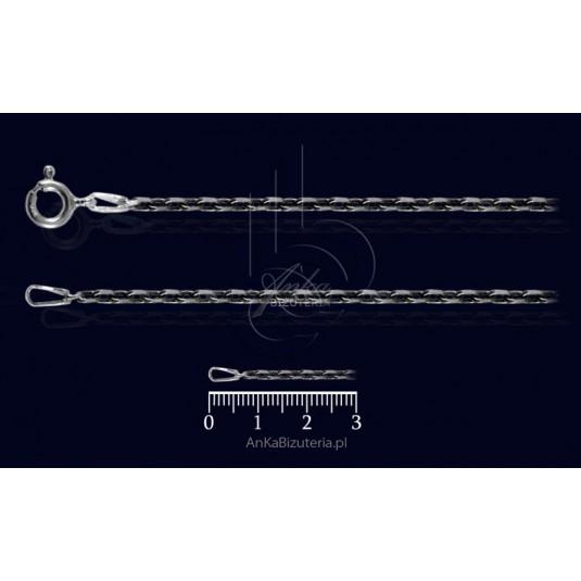 Łańcuszek Anker diam oksydowany 45cm 0,6