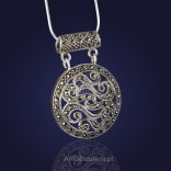 """Silver pendant with marcasites """"Midsummer Night's Dream"""""""