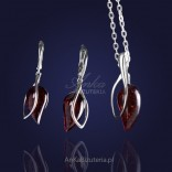 Fine silver set with amber - 10% discount.