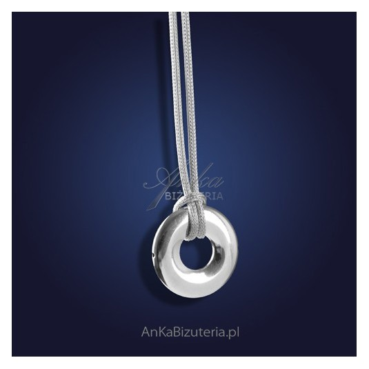 """Naszyjnik srebrny - """"w biznesowym stylu"""" - biżuteria ze srebra rodowanego"""