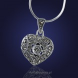 Give your beloved silver HEART - jewelry with beautiful marcasites.