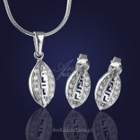 "Silver jewelry set: ""Dreamlike Greek Cyclades"""