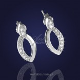 """""""Ambassador of contemporary classics and elegance"""" - silver earrings with cubic zirconia."""