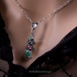 """A set of silver jewelry - Absolute - """"Take me"""" - sapphire, emerald, marcises and rubies."""