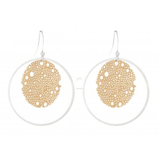 Eleganckie kolczyki pokryte srebrem i 14 karatowym złotem duńskiej firmy Dansk Smykkekunst