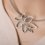 Artistic jewelry Silver necklace
