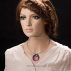 Niezwykle efektowny naszyjnik ze srebra i tytanu - biżuteria artystyczna