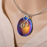 Extremely impressive necklace made of silver and titanium - artistic jewelry