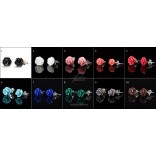 Silver roses in 10 colors to choose from