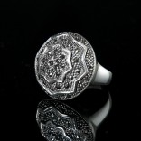 For modern, energetic women - a silver ring with marcasites - a unique 19