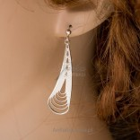 Delicate openwork silver earrings - delicate as feathers.