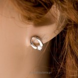 A wonderful, subtle set of rhodium silver and sparkling crystals