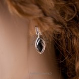 Silver set Beautiful set of rhodium silver with onyx