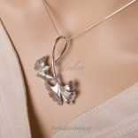 Jewelry close to nature, silver set for spring, summer and autumn