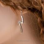 Elegancja i szyk - komplet srebrny, rodowany.