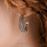 Earrings - silver earrings with marcasites - unique.
