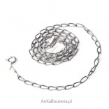 Silver Jewelry Long oxidized chain 65 cm 0.6.