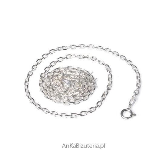 Łańcuszek Anker Diamentowy 45cm 0,6